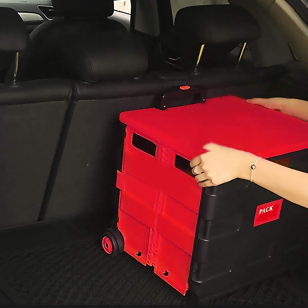 Corwar Carro de la Compra Plegable Puede soportar un Peso de 35 kg companionable Carro port/átil multifunci/ón con Tapa para Compras o Pesca