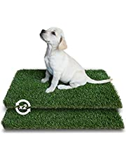 PETKARE Artificial Grass Mat for Puppy, Fake Grass Pad Washable Pee Pads for Dogs, Dog Grass Rugs for Indoor and Outdoor Pet Potty Training - 2 Packs of Replacement