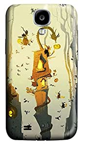S4 Case, Samsung S4 Case, Customized Protective Samsung Galaxy S4 Hard 3D Cases - Personalized Halloween 01 Cover