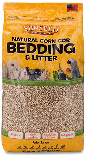 (Sunseed 35820 Natural Corn Cob Bedding & Litter - 350 Cubic Inch)