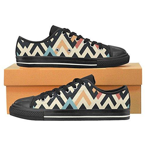 Men Classic Shoes Pattern for Slip On Skulls InterestPrint Canvas Raster Geometric T0PwWg