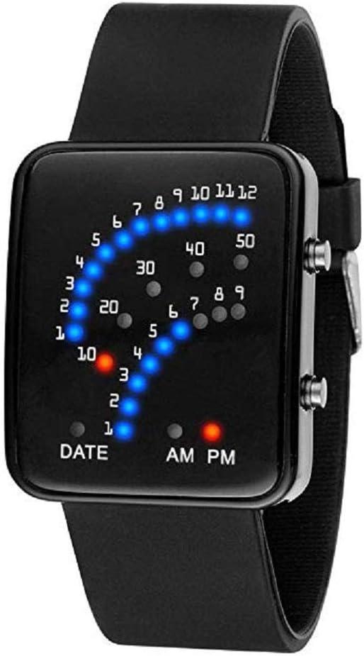 Scpink Reloj Deportivo Digital Resistente al Agua para Hombres, Pantalla Grande, Reloj Militar LED,Correr Reloj de Pulsera