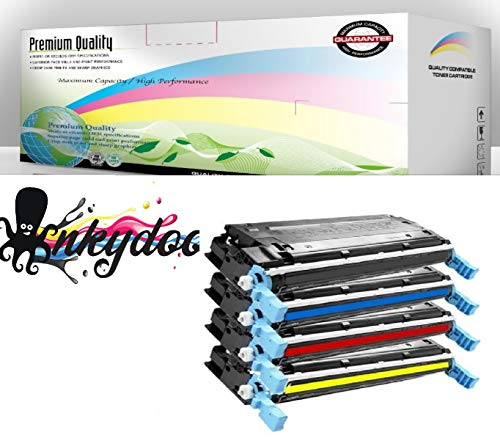 InkyDoo Compatible HP 501A/ 503A 4-Color Toner Set for HP Color Laserjet 3800 Series,HP Color Laserjet CP3505, Premium Quality Replacements for Q6470A, Q7581A, Q7582A, - 3800 Printers Series Color Laser