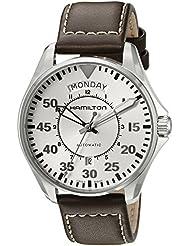 Hamilton Mens H64615555 Khaki Aviation Analog Display Swiss Automatic Brown Watch
