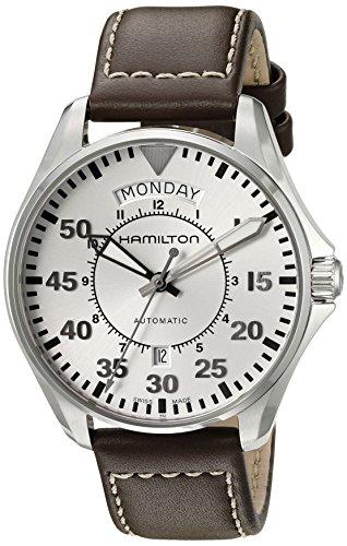 Hamilton Men's H64615555 Khaki Aviation Analog Display Swiss Automatic Brown Watch by Hamilton