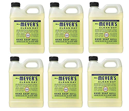 Mrs Meyers Liquid Hand Soap, Refill, Lemon Verbena Scent (Pack of 6) ()