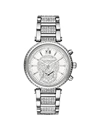 Michael Kors Women's MK6281 Sawyer Silver-Tone Stainless Glitz Watch
