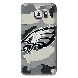 S6 Case, NFL - Philadelphia Eagles Camo - Samsung Galaxy S6 Case - High Quality PC Case