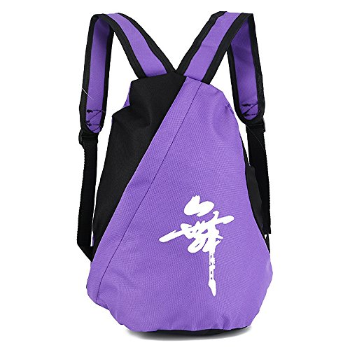KINDOYO Girls Dance Gym Sport Bag Kids Knapsack Gymnastics Trainer Shoulder Backpack , Purple/Black