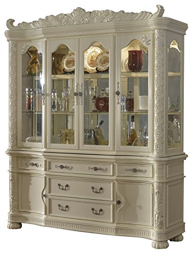 Meridian Furniture 702 HB Barcelona Solid Wood Dining Room Hutch And Buffet  / China Cabinet