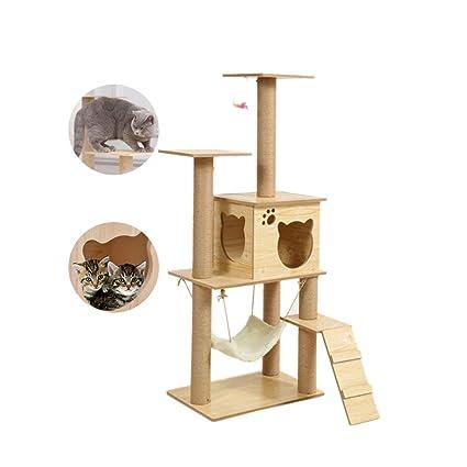 Rascador de árbol para gatos con hamaca de gran tamaño ...