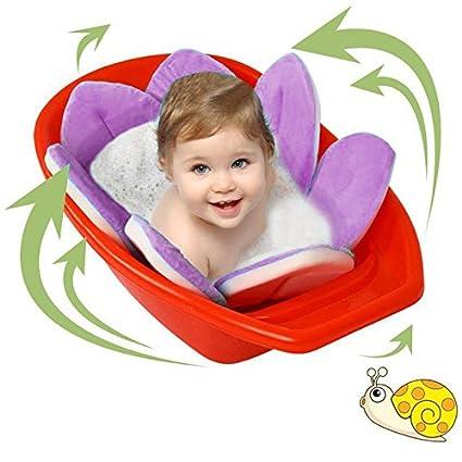 Bebé alfombrilla de baño asiento para bebé infantil Kid bebé Toallitas flores pétalos de flores LOTUS