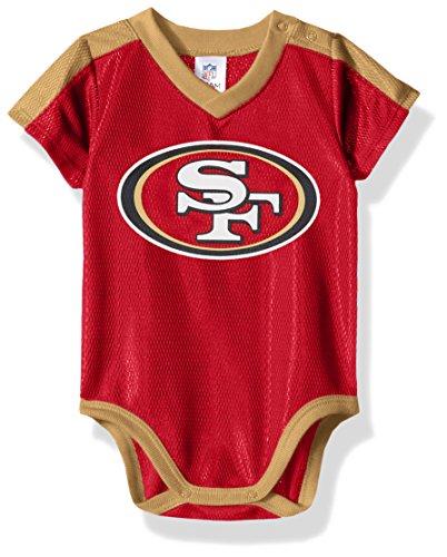 Boys 49ers San Francisco Apparel - NFL San Francisco 49Ers Unisex-Baby Dazzle Bodysuit, Red, 3-6 Months