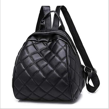 OneMoreT - Mini mochila de piel sintética para mujer con diseño de rombos, negro: Amazon.es: Instrumentos musicales