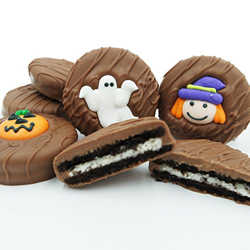 Philadelphia Candies Milk Chocolate Covered OREO Cookies, Halloween Assortment (Cute Witch, Ghost, Pumpkin) 8 -