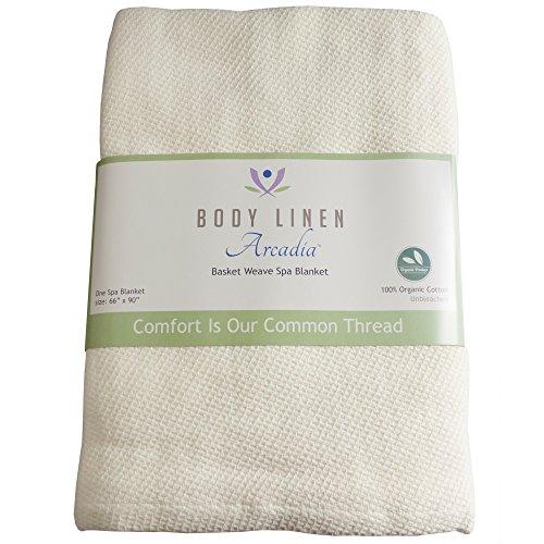 Spa Basket Weave Organic Massage Table Thermal Blanket (Spa Blanket Thermal)