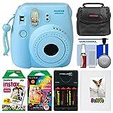 Fujifilm Instax Mini 8 Instant Film Camera (Blue) with Photo Album + Instant Film & Rainbow Film + Case + Batteries & Charger Kit