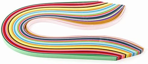 クイリングペーパー 36色540mmの長さ3/5/7 / 10mmの幅の多色刷りの720 PCのクイリングペーパーストリップ(3