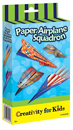 Creativity for Kids Paper Airplane Squadron - Create and Customize 20 Paper Planes - Kid Paper Airplanes