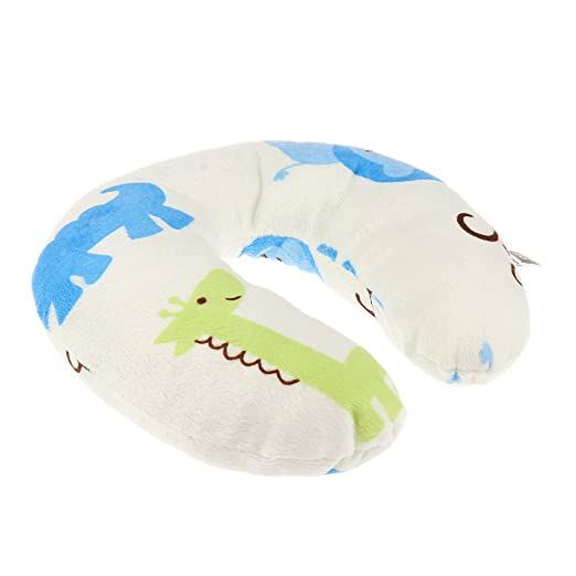 Baby U Shape Car Seat Stroller Travel Neck Head Rest Pillow Hippo Pattern