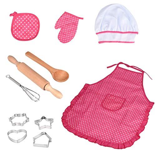 Livoty 11Pcs Kids Cooking and Baking Toy Set