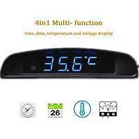 Boomboost 4In1 Coche Fecha Reloj Voltímetro Termómetro Monitor