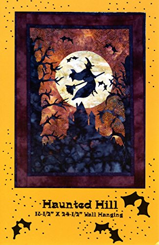 Haunted Hill Halloween Wall Hanging Quilt Pattern, Fusible Applique, 18.5