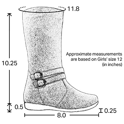 6cff7122b8df0 Generation Y Knee High Flat Boots Little Kids Quilted Leather Gold ...