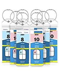 GreatShield Narrow Cruise Luggage Tag Holder with Zip Seal & Steel Loops, Weather Resistant PVC Pouch - Clear (8 Pack)