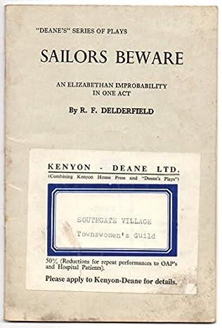 book cover of Sailors Beware