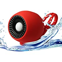 SCHITEC LED Portable Waterproof Wireless Bluetooth Speaker,Outdoor or Shower Party Beach Picnic with Dustproof ShockProof and Microfiber Cleaner for iPhone 6/6S/6S Plus Samsung S5/S6 edge and So On