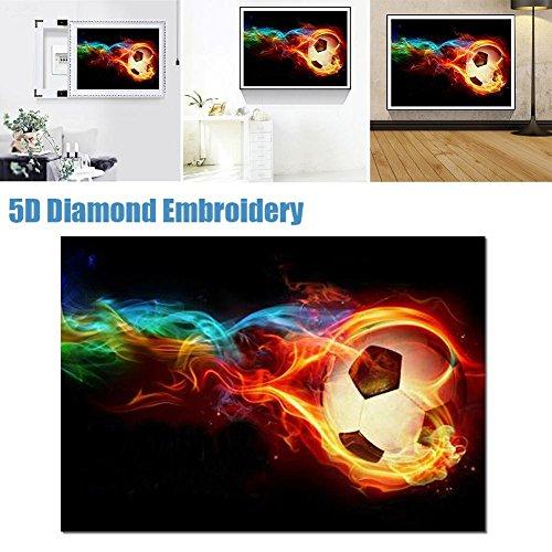 Pretty-jin Peinture au diamant30X40 cm Full Diamond Football en forme de Diamant Peinture Salon BRICOLAGE Ronde Diamant Point de Croix Broderie Ensemble