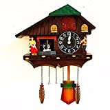 OLQMY-Luxury home decoration European-style wall clock, a window when hanging swing table, living room modern creative simple cuckoo clock,B