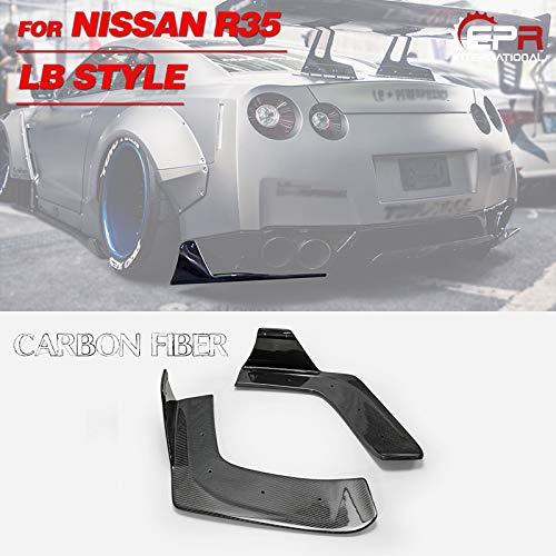 EPR Carbon for Nissan GTR R35 LB Style Rear Bumper Spats Splitter Add on Aprons Kit
