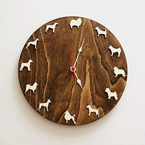 Dog clock different breeds set2 Bestseller gift for children pet lovers Ideas for kids Home dog decor