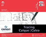 Canson Foundation Tracing Paper Pad for Ink, Pencil and Markers, Fold Over, 25 Pound, 14 x 17 Inch, 50 Sheets