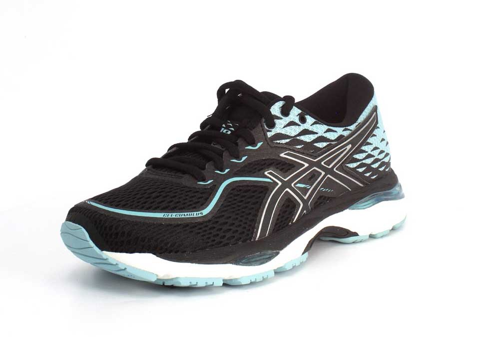 ASICS Women's Gel-Cumulus 19 Running Shoe B071VRT56C 8.5 B(M) US|Black/ Porcelain Blue/ White