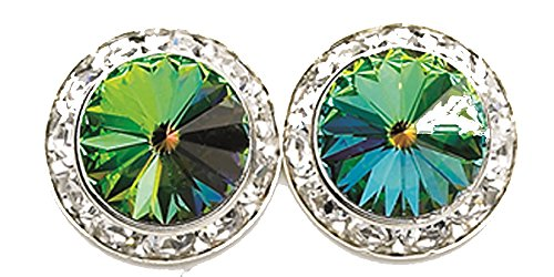 20mm Vitral Authentic Swarovski Elements Round Crystal Rhinestone Earrings - Made in the USA (Balls Swarovski Rondelles Crystal)