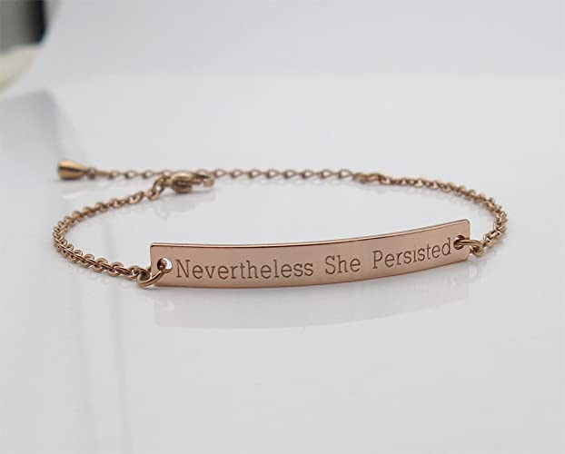 Amazon Com Nevertheless She Persisted Bracelet Inspirational Quotes
