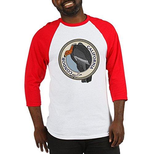 CafePress - California Condor Baseball Jersey - Cotton Baseball Jersey, 3/4 Raglan Sleeve Shirt -