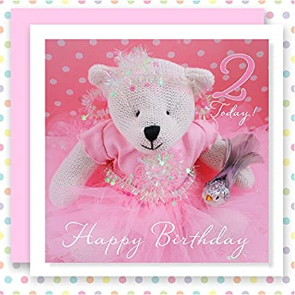 Happy Birthday Princess A Pretty Card For Little Girl Who Is 2 Today Amazoncouk Kitchen Home