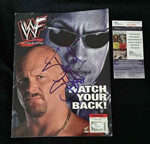 Stone Signed - The Rock Dwayne Johnson & Stone Cold Steve Austin Signed Wwe Magazine Coa - JSA Certified - Autographed Wrestling Miscellaneous Items