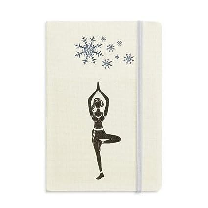 Yoga Girl Stand Keep Silhouette - Cuaderno grueso, diseño de ...