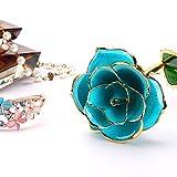 24k Gold Rose Birthday Gift for Women, Flower Rose