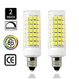 75w type a bulb daylight - E11 led bulbs, All-New Mini Dimmable Candelabra Base, T4 /T3 JD Type Clear E11 light bulbs,8.5 Watt, 75W 100W halogen bulbs replacement,850 lumens, 110V, 120V, 130V,(2 pack)Daylight White.