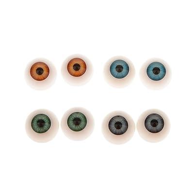 8 Pcs Demi-ronde Acrylique Creuse Poupée Dollfie Yeux Globes Oculaires 20mm