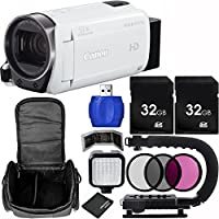 Canon VIXIA HF R700 Full HD Camcorder (White) Bundle with Carrying Case and Accessory Kit (11 Items)