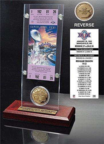 (NFL Washington Redskins Super Bowl 26 Ticket & Game Coin Collection, 12