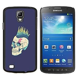 LECELL--Funda protectora / Cubierta / Piel For Samsung Galaxy S4 Active i9295 -- Punk Purple Vignette Rock Metal --