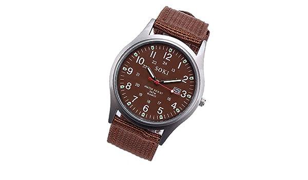 Reloje de Hombre,Aleación de Lona de diseño Retro Reloj de Pulsera ...